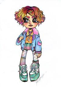 """Green Shoes"", colour pencils, Jessica McLeod-Yu, 2016"