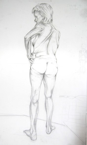 """""""Woman"""", graphite on A2 sized paper, 2014"""