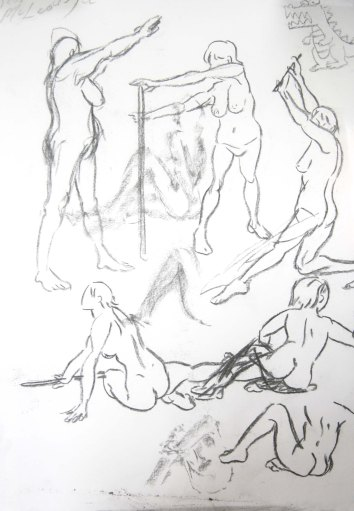 """""""Woman - gesture studies"""", graphite on A2 sized paper, 2014"""