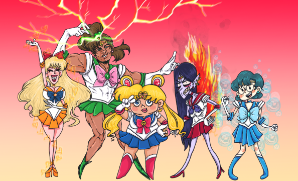 """Sailor Moon Parody"", photoshop, Jessica McLeod-Yu, 2015"