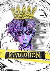 """Revolution"", illustration, photoshop, markers, Jessica McLeod-Yu, 2017"