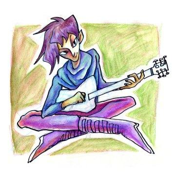 Adrian Playing Guitar