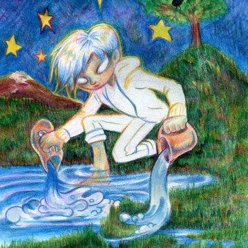 """The Star"", colour pencils, watercolours, Jessica McLeod-Yu, 2018"