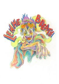 """""""Lemme Breath"""", colour pencil, pastel, Jessica McLeod-Yu, 2017"""