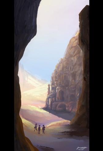 """Desert Ruins"", photoshop, 2020, Jessica McLeod-Yu"