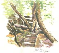 """Bush Walk"", Watercolour, Jessica McLeod-Yu, 2019"