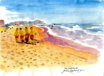 """Manley Beach"", Watercolour, Jessica McLeod-Yu, 2019"
