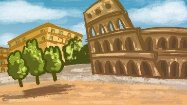 """Rome"", photoshop, digital art, Jessica McLeod-Yu, 2019"
