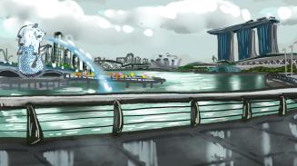 """Singapore"", photoshop, digital art, Jessica McLeod-Yu, 2019"