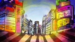 """Shibuya"", photoshop, digital art, Jessica McLeod-Yu, 2019"