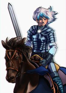 """Knight of Swords"", Photoshop, 2020, Jessica McLeod-Yu"