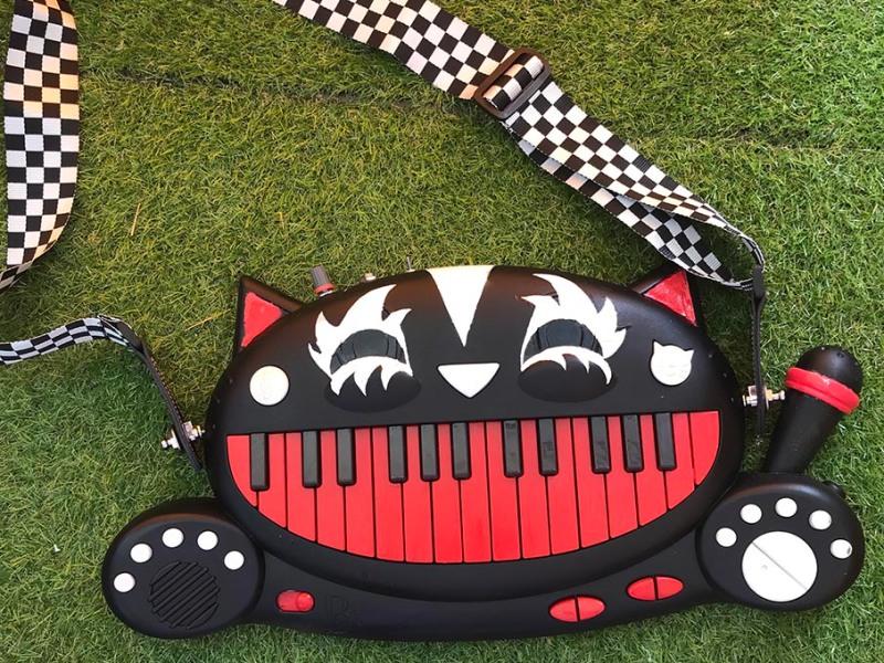 """Cat Piano Customisation"", Meowsic Keyboard and acrylic paint, Jessica McLeod-Yu, 2020"